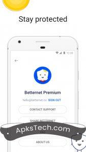 Betternet Premium MOD APK [Unlocked] 2021 7
